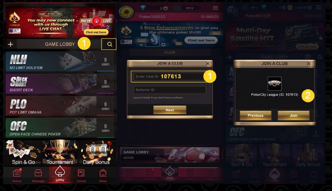 PokerCity League - Club