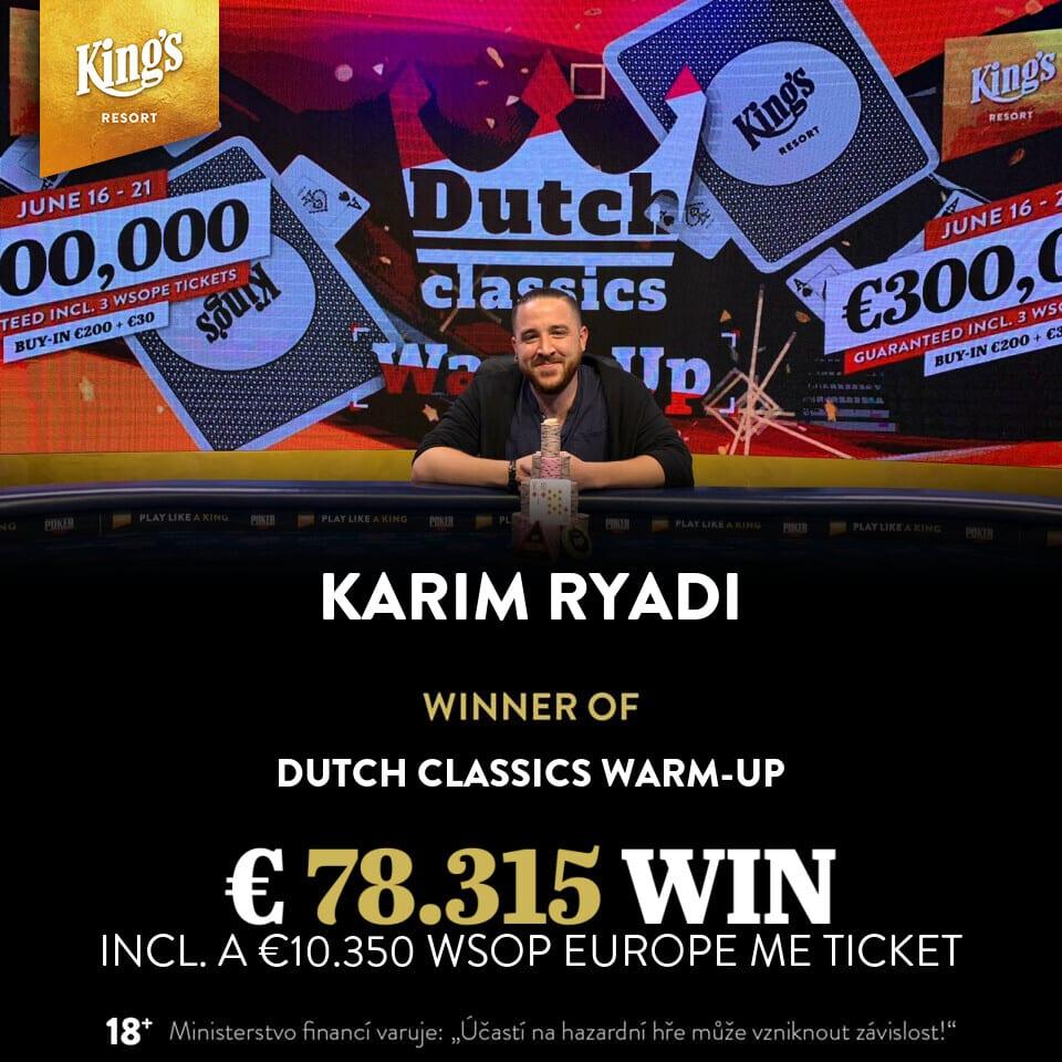 €230 Dutch Classics Warm-Up Main Event - Karim Ryadi
