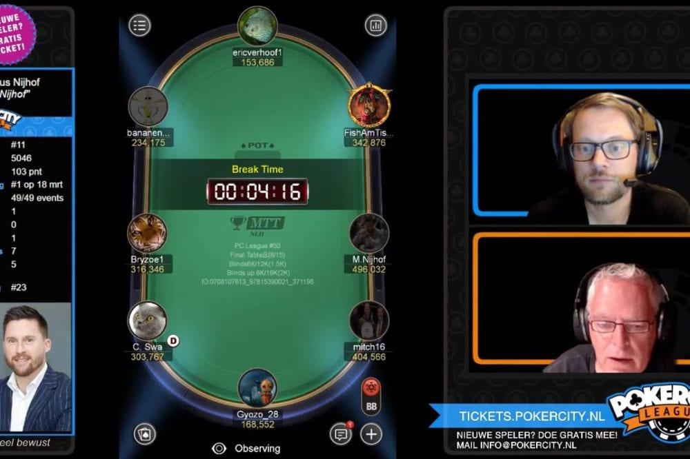 PokerCity League #51: Back-to-back voor Marinus Nijhof, grijpt derde titel!