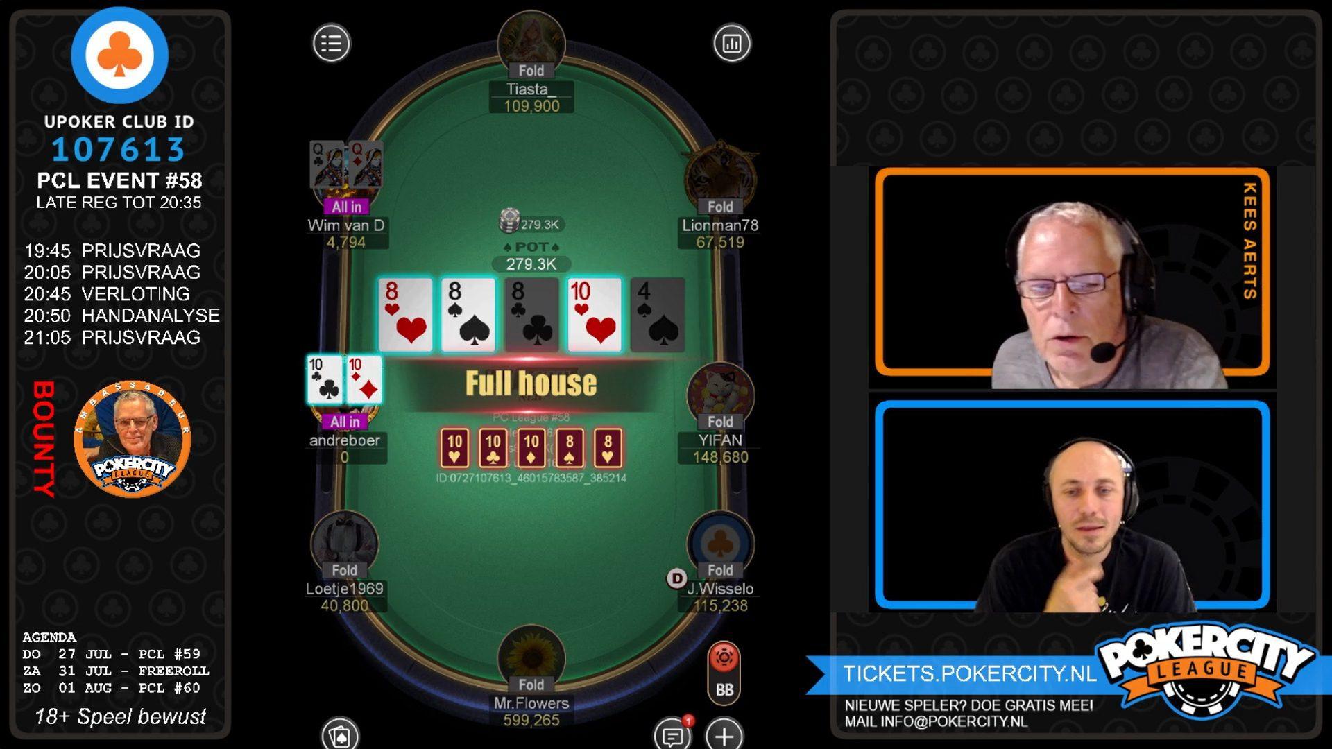 PokerCity League #58 - Wim van Dorsten Bubble