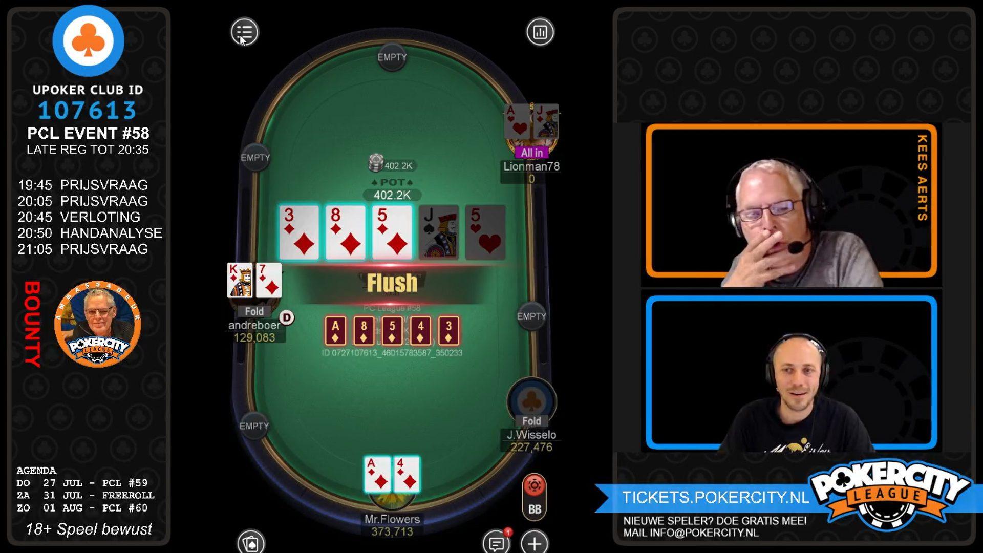 PokerCity League #58 - Christiaan Schut FT Bubble
