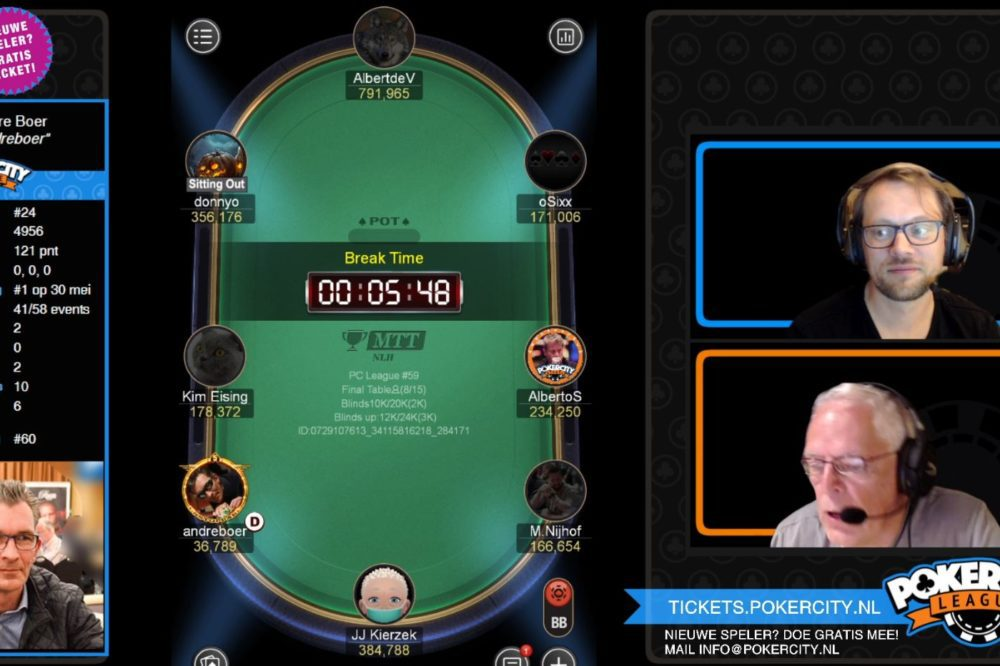 PokerCity League #59 - Albert de Vries wint