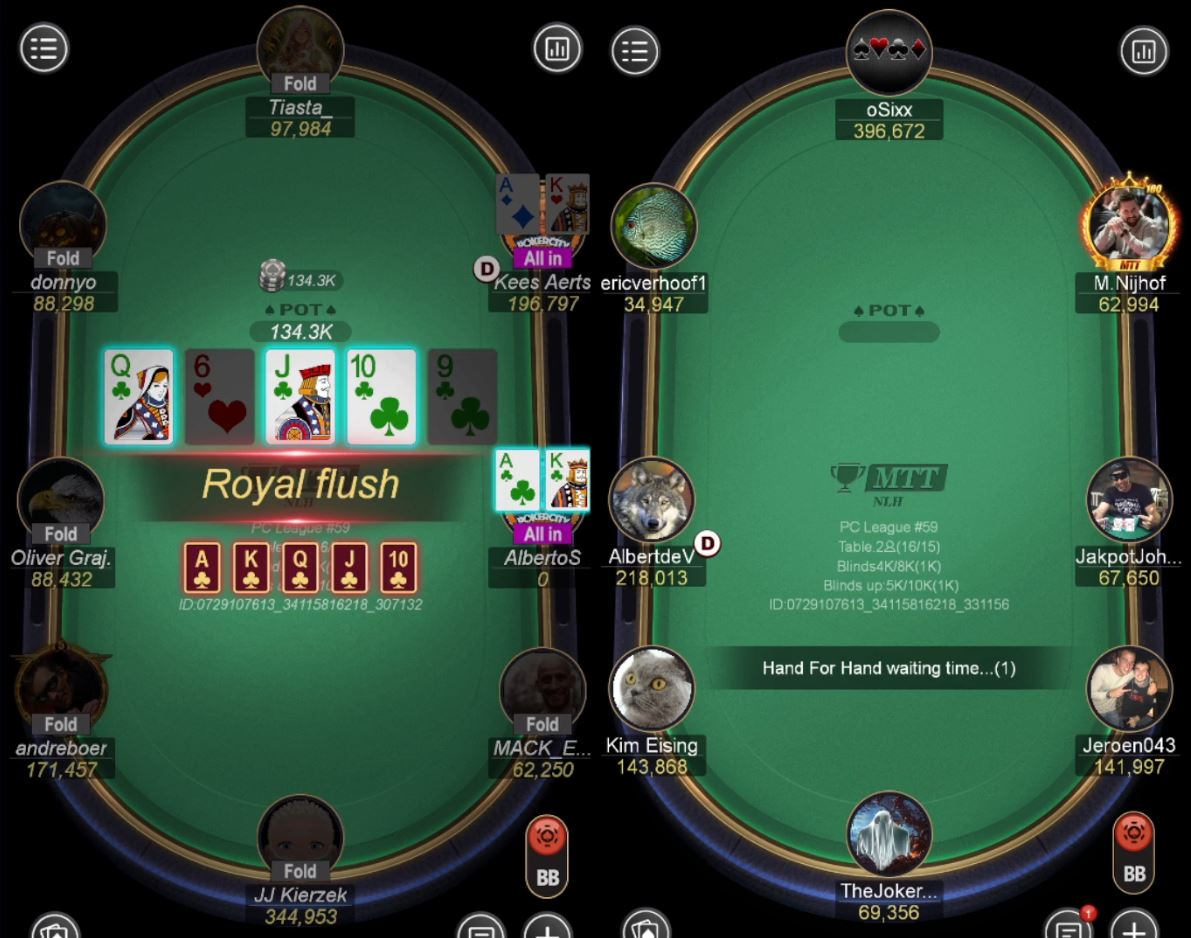 PokerCity League #59 - Bubble Royal Flush Alberto Stegeman