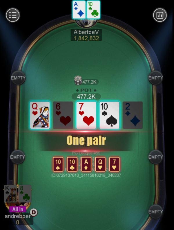 PokerCity League #59 - Heads-up Albert de Vries vs Andre Boer