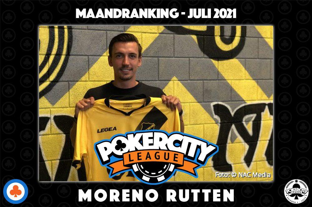 PokerCity League - Maandranking juli 2021 - Moreno Rutten