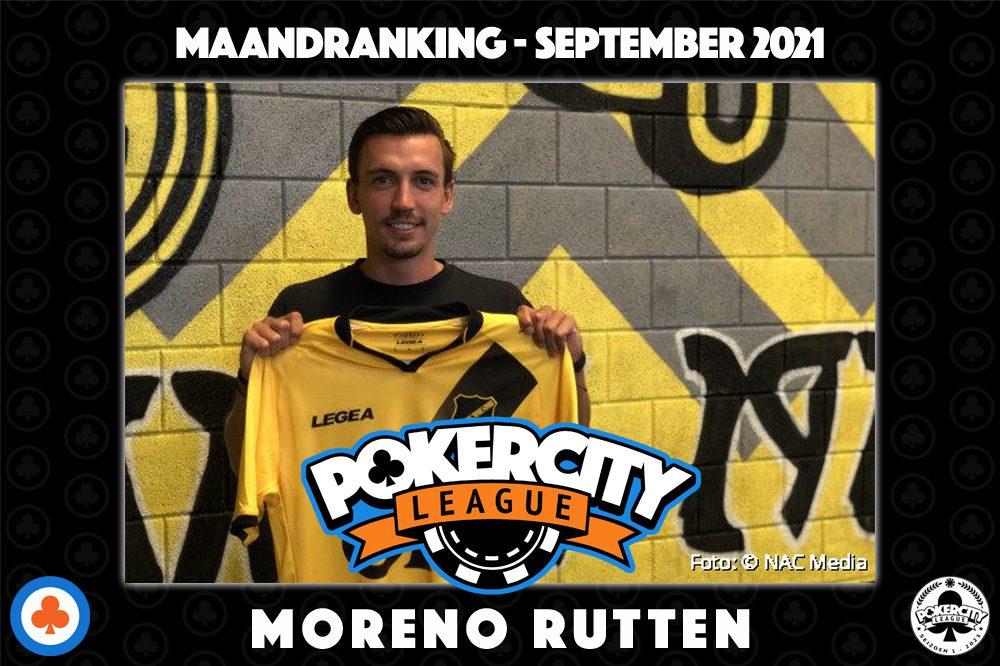 PokerCity League - Maandranking september 2021 - Moreno Rutten