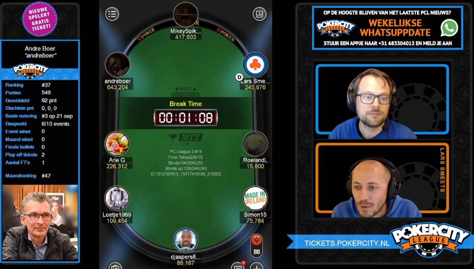 PokerCity League - Seizoen 2 - #14 - Finaletafel