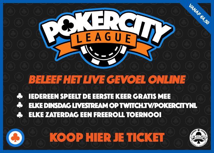 PokerCity League - Beleef het live gevoel online!